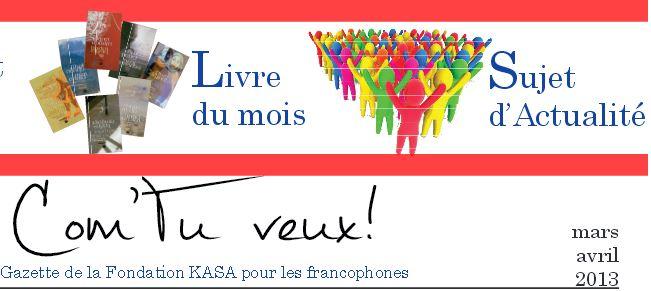 Gazette francophone - Mars 2013